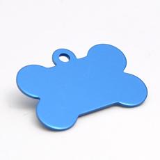 ID-Brikke, hundebein, blå