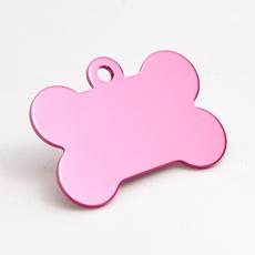 ID-Brikke, hundebein, rosa