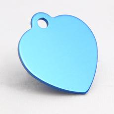 ID-Brikke, lite hjerte, blå